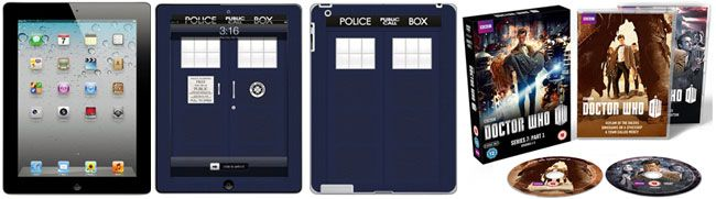 Doctor Who Series 7 iPad Set available to buy from the BBC Shop. So much win!!!  includes:  - Apple iPad2 Wi-Fi - Tablet - 16 GB  - Doctor Who Police Box iPad2 Skin  - Doctor Who Series 7 Part 1 DVD