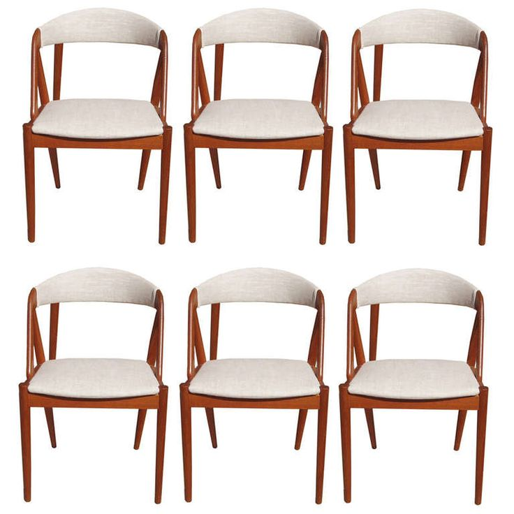 set of 6 mid century dining chairs by kai kristiansen modern dining room - Mid Century Modern Dining Room Chairs