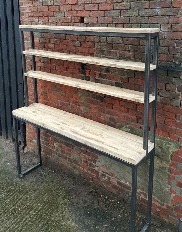 Reclaimed Wood Breakfast Bar Shelving Unit Dresser Combo Parquet Reciclado Pinterest Bars And
