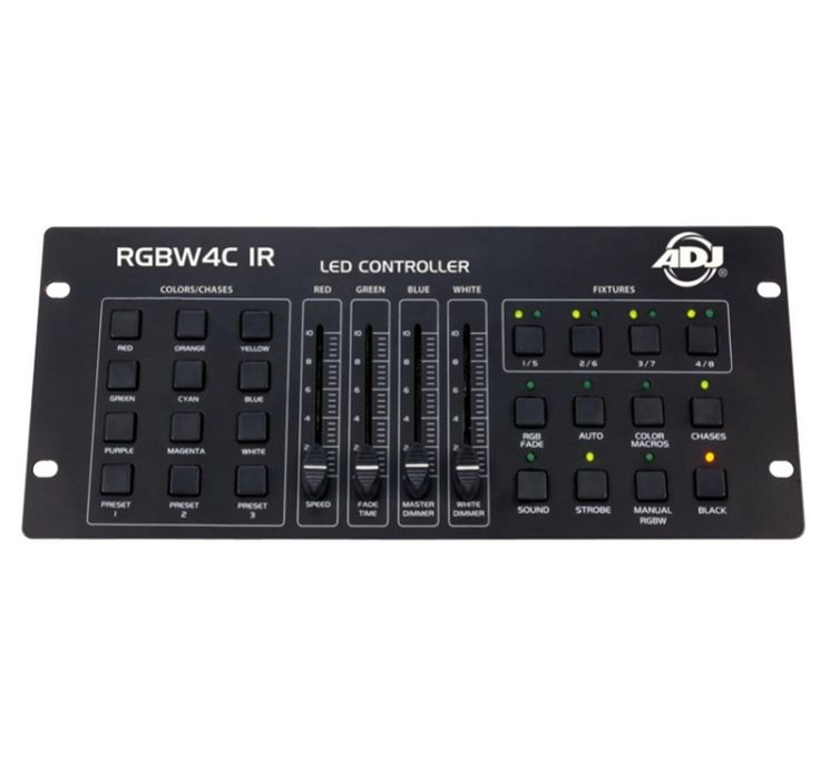 American DJ 32 Channel RGB/RGBW/RGBA LED DMX Lighting Controller | RGBW4C-IR