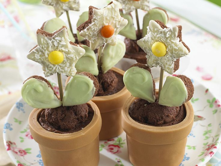These flower pot cakes might be fun for Mother's Day.