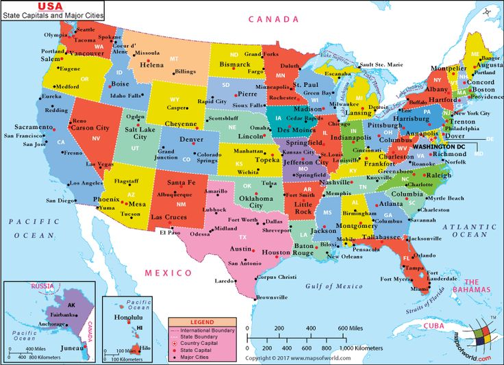 US Major Cities Map USA Maps Pinterest Us map