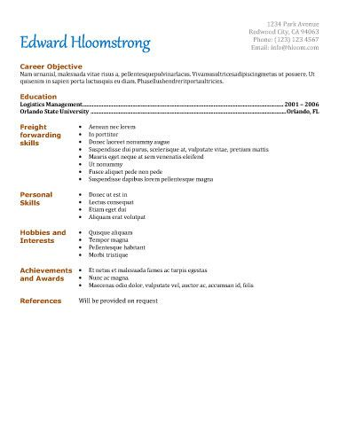 Career Starter Resume Template Resume Templates And