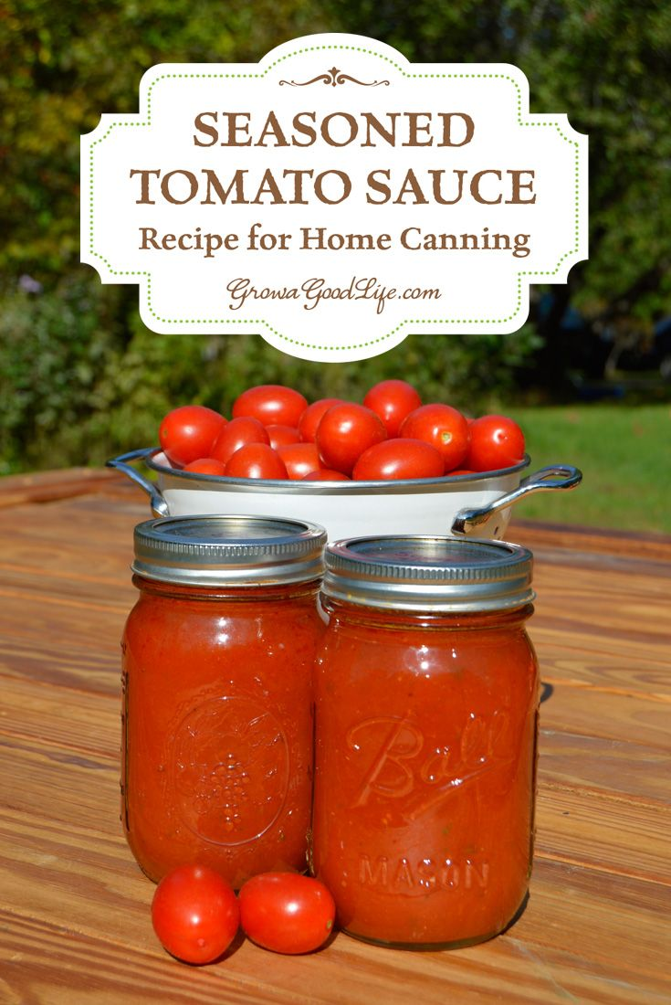 "No store bought tomato sauce compares with the flavor of one made from your own tomatoes from your garden or from a local farm. This is the Tomato Sauce Recipe and method I use to home can the tomato harvest. This is a more manageable variation of Ball's ""Seasoned Tomato Sauce"" recipe. The ratio of ingredients is the same maintaining the safe canning properties."