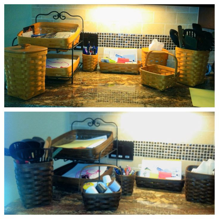 Stain Longaberger Baskets: Minwax Dark Walnut and foam brush.