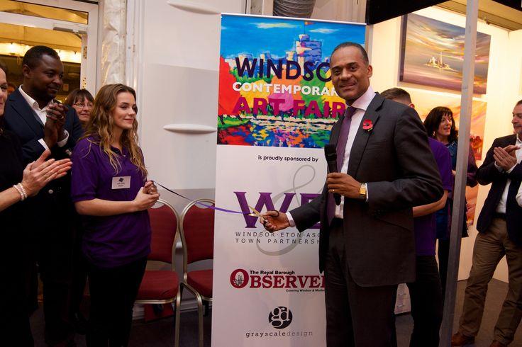 Adam Afriyie MP officially opening the event. www.windsorcontemporaryartfair.co.uk