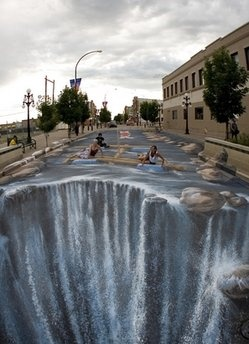 another 3d sidewalk painting. so cool