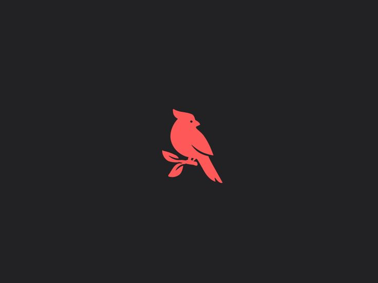 Red cardinal bird logo by Logo machine #Design Popular #Dribbble #shots