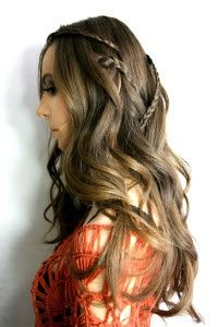 Cascading Braid Hairstyle for long Hair