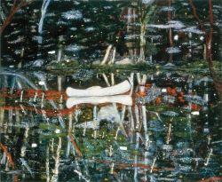 Peter Doig White Canoe 1990-1 Oil on Canvas 200.5 x 243cm