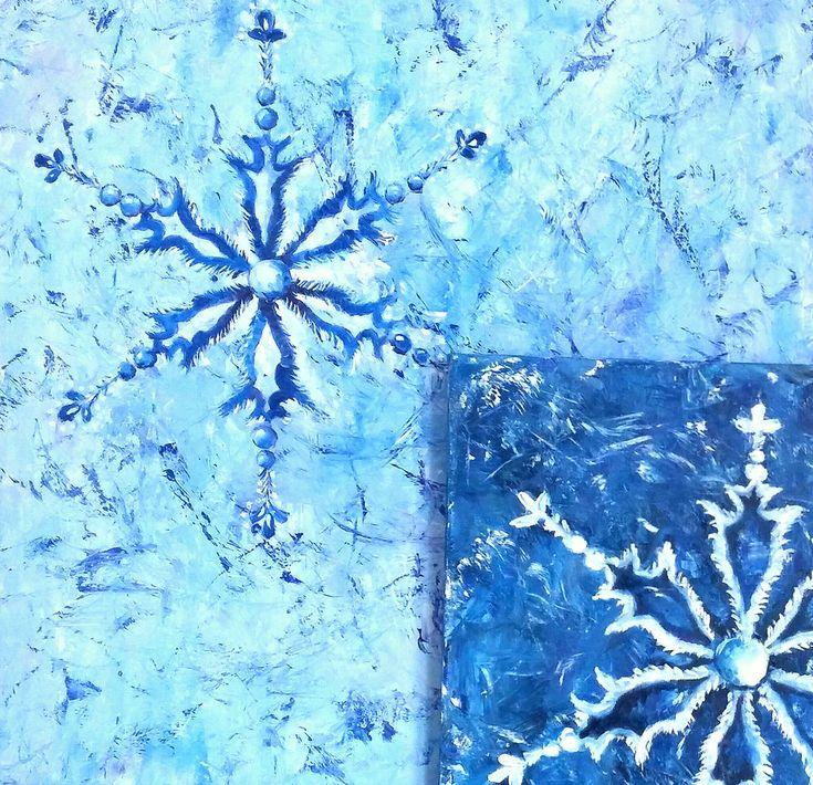 Что самое замечательное в новогоднем празднике? Конечно же, подготовка к нему! Поэтому, воодушевленная творческими фотографиями нашего местного фотографа Анны Волкодав, я записалась к ней на новогоднюю фотосессию. А чтобы не было скучно ждать, и чтобы моя фотосессия была яркой, особенной и неповторимой, решила подготовить кое-какой авторский реквизит для ярких фоновых пятен, в том числе — картины со снежинками.