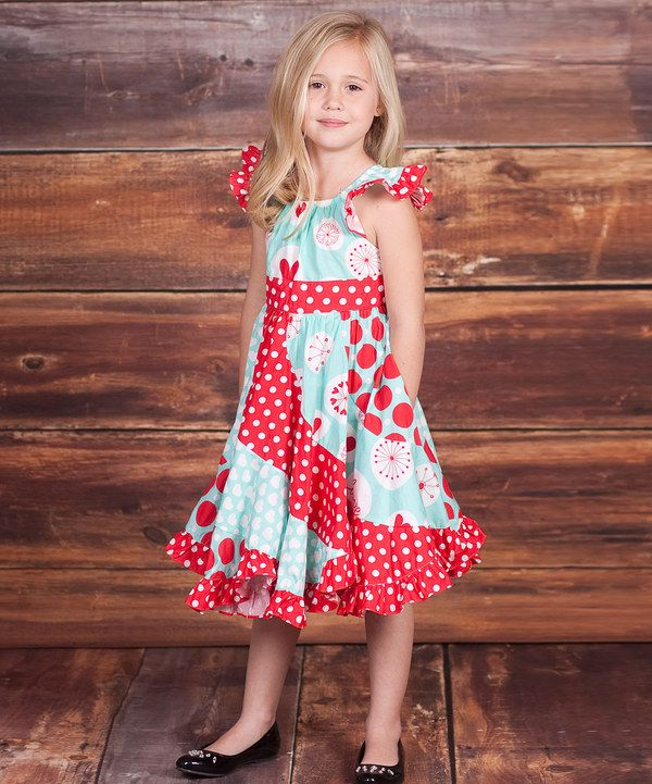 Another great find on #zulily! Light Blue & Red 'Love' Flo ...