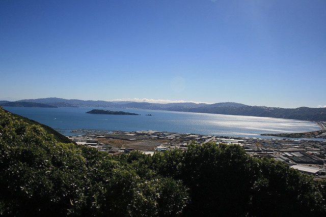 Wellington Harbour from the Wainuiomata lookout by Steve Attwood, via Flickr