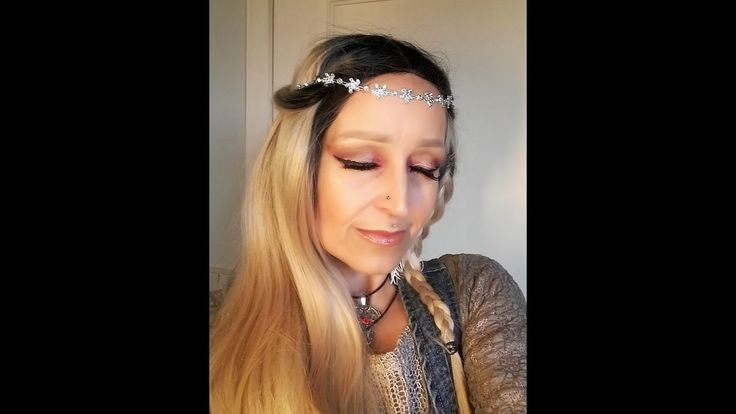 Grungy Halo Winter Hippie Make-Up Tutorial