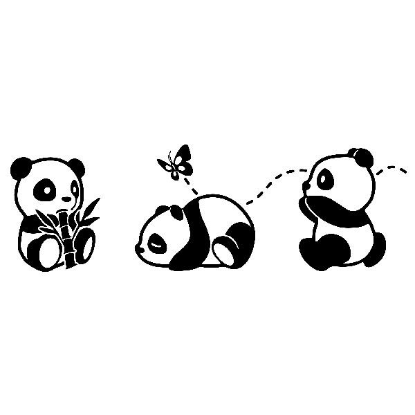 Adesivi per Bambini: I tre panda