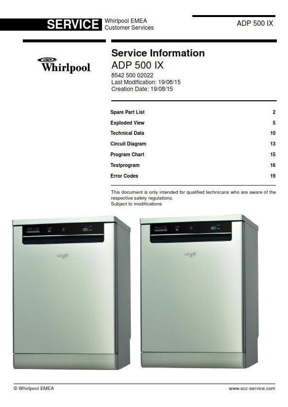 Pin On Whirlpool Dishwasher Service Manuals
