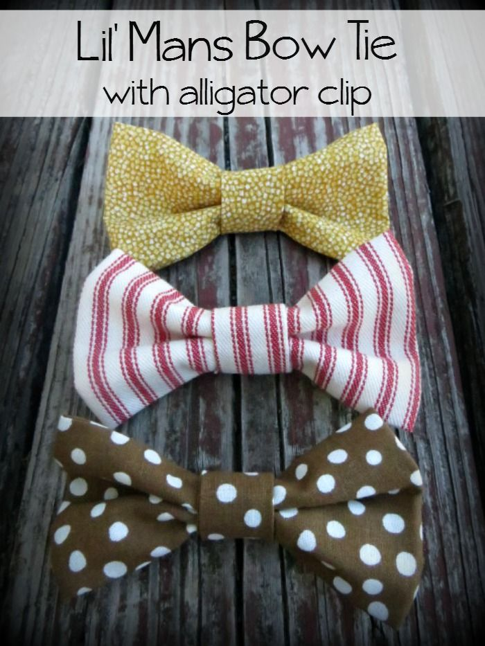 Lil' Mans Bow Tie with Alligator Clip by Made to be a Momma