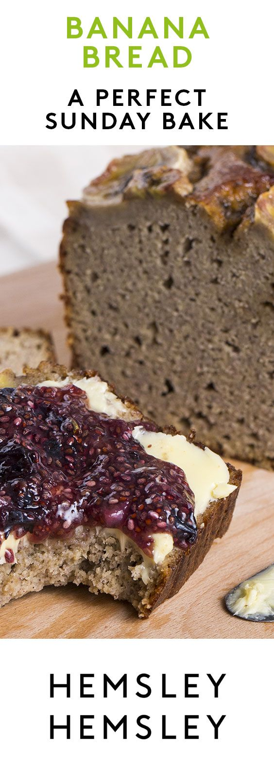 Everyone loves banana bread, it makes a sweet and satisfying breakfast or snack. Slather with butter and a dollop of homemade chia jam for a real tea-time treat. As seen in our Channel 4 series Eating (Vegan Gluten Free Banana)