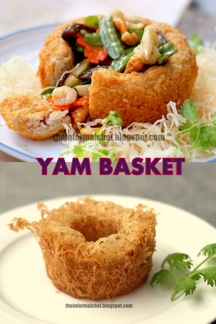 Chinese New Year Dinner: Yam Basket/Fatt Putt 佛钵 (盘满钵满) Crispy on the outside and melt-in-the-mouth on the inside. This yam basket that is filled to the brim signifies the abundance of fortune.