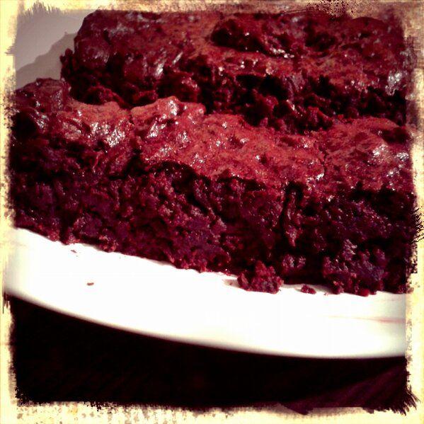 Incredibly fudgey chocolate beetroot brownies