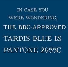 TARDIS blue Pantone paint color