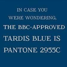 TARDIS blue Pantone paint color