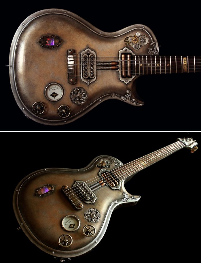 Steampunk Tendencies | Steampunk SP-1/Deluxe by Hutchinson Guitar Concepts New Group : Come to share, promote your art, your event, meet new people, crafters, artists, performers... https://www.facebook.com/groups/steampunktendencies