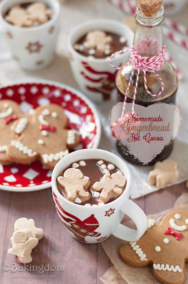 Homemade Gingerbread Hot Cocoa!