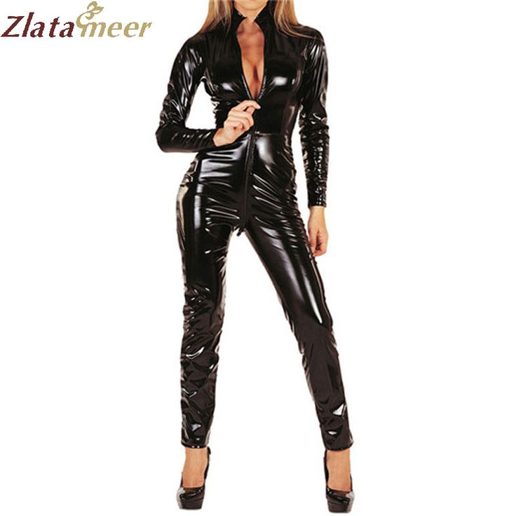 >> Click to Buy << Rubber Latex Jumpsuit For Women Fetish Rubber Catsuit Stand Collar Long Sleeve One Piece Latex Bodysuit LC002 #Affiliate
