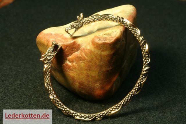 Wikinger Armreif Drachen Bronze filigran Viking