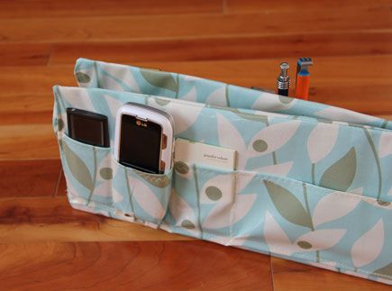 Make your own purse organizer!  All you need is a cereal box and some fabric (plus a bit of talent or Mom who sews), and Voila!