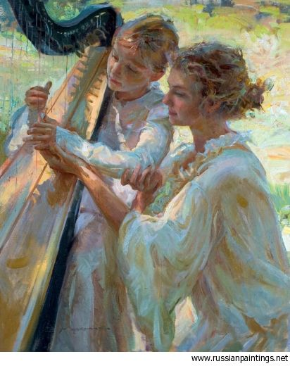 Love the use of subtle contrasting pastels that make this painting come to life. Very warm and vibrant. Gerhartz Daniel F. - 'Beginning'