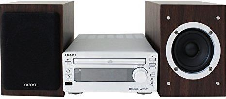Neon® MCB1533-37 Micro CD Music System with Bluetooth Compact CD Player Stereo Home Music System with FM