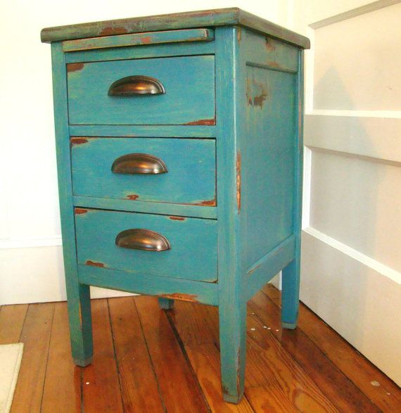 painted end table by refineryfurniture on etsy 29900