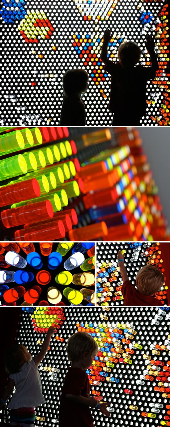 Giant lite brite at the Fort Worth Museum of Science and Technology. Moveable pegs.