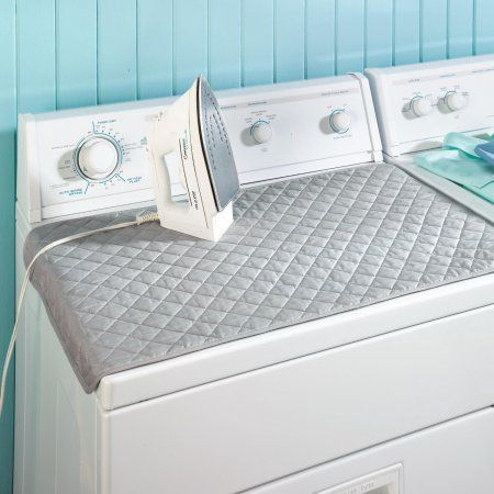 Magnetic Ironing Mat Laundry Pad Quilted Blanket Tabletop Ironing Pad Use on Top of Washer / Dryer or Any Flat Space - Walmart.com