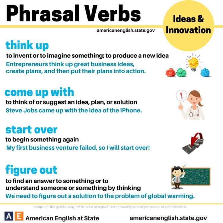 to think phrasal verbs - Pesquisa Google