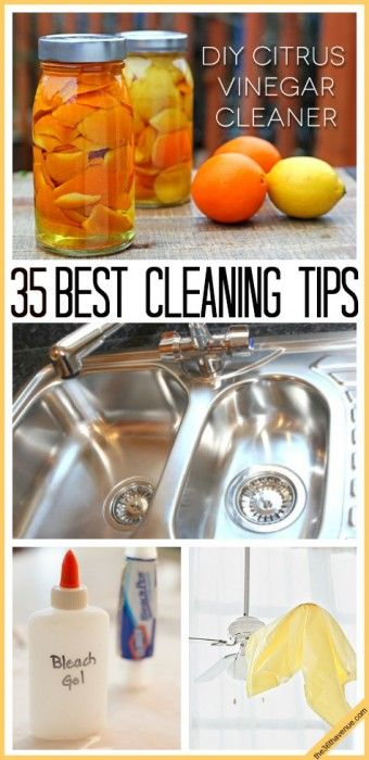 Cleaning Tips : These 35 tips and cleaning recipes for the home are awesome!