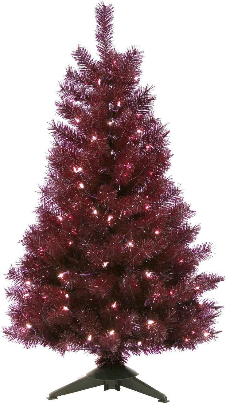 general foam plastics mountain king prelit artificial christmas tree purple trans 4 foot - Mountain King Christmas Trees