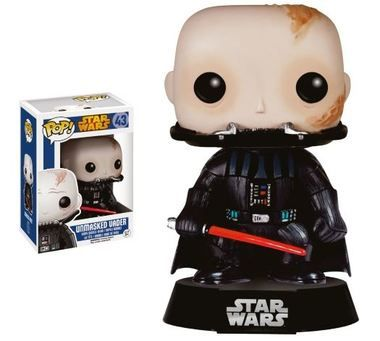 Star Wars Darth Vader Unmasked Pop! Vinyl Figure! Check out the other Star Wars figures from Funko! Stands 3 3/4 inches. Collect them all!. Stands 3 3/4 inches Check out the other Star Wars figures from Funko! Collect them all!