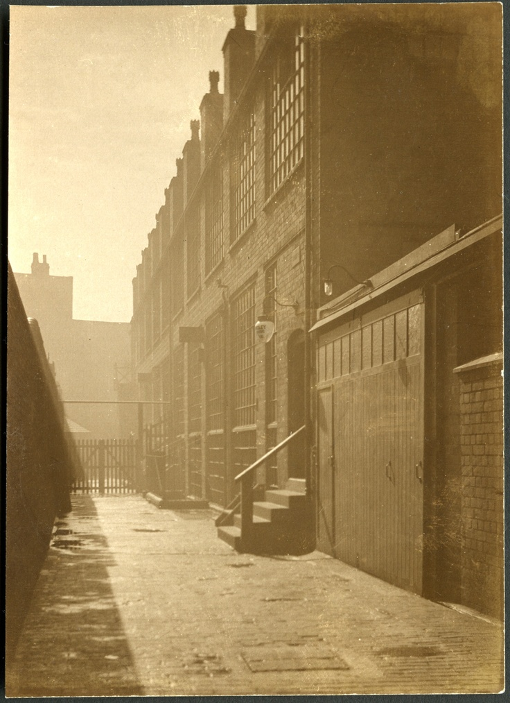 Workmans entrance many moons ago at Toye, Kenning & Spencer Birmingham
