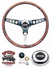 """1976-1986 JEEP CJ5 CJ7 steering wheel WALNUT 13 1/2"""" Grant steering wheel"""