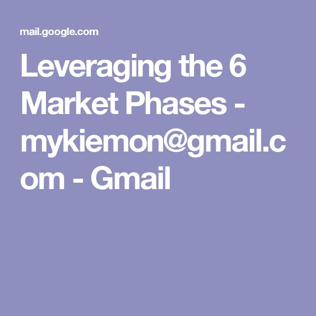 Leveraging the 6 Market Phases - mykiemon@gmail.com - Gmail