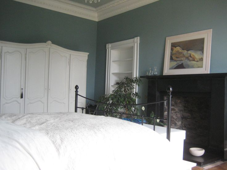 Master Bedroom In Farrow And Ball Oval Room Blue And White