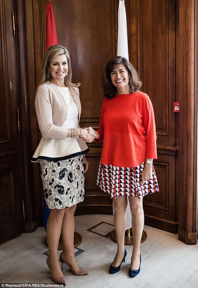 24 May 2017 - Queen Maxima attends a presentation in Paris