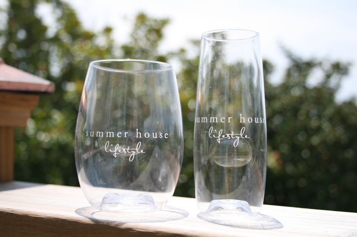 Customized govino champge flutes and wine glasses