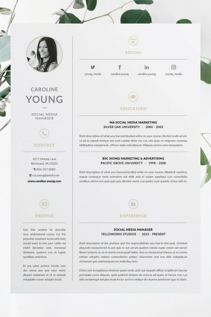 25 beautiful cover letter layout ideas on pinterest caroline resumecv template word photoshop indesign professional resume design cover letter madrichimfo Gallery