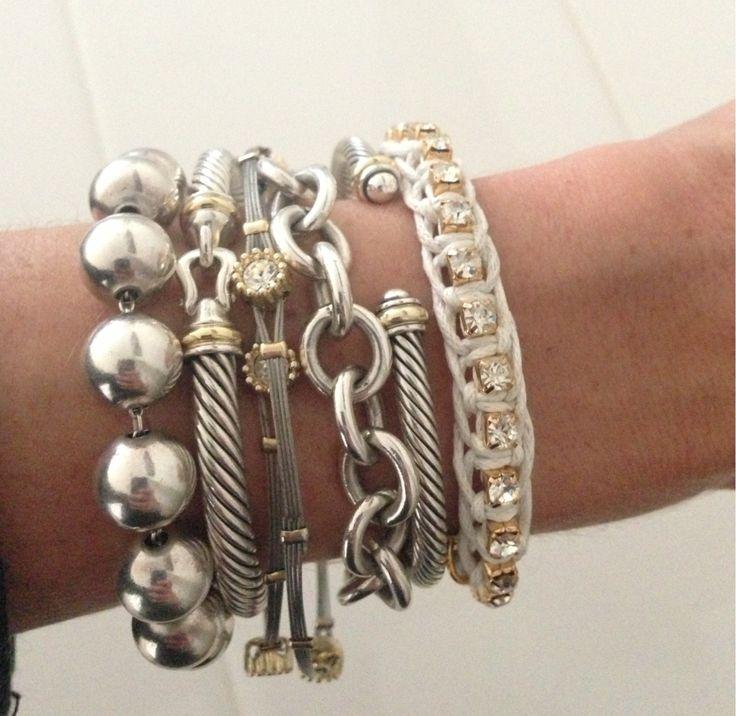 Stacked bracelets!