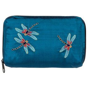 Louis C. Tiffany Dragonfly Embroidered Zip-Around Case - Jewelry Rolls & Cosmetic Cases - Totes & Accessories - The Met Store