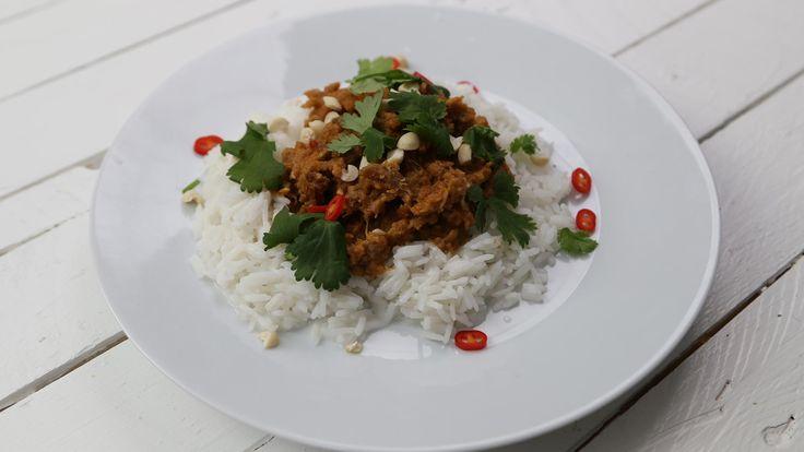 Nyhtökaura-satay & kookosriisi - Vegepäivä - Nyhtökaura reseptit